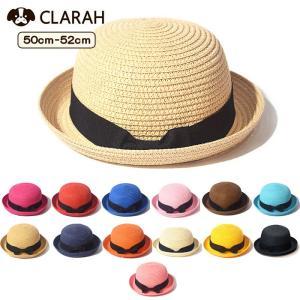 ●ITEM:麦わら帽子 オシャレ 折りたたみ たためる カンカン帽 キッズ ストローハット 子ども ...