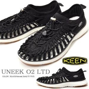 限定カラー アウトドア スニーカー KEEN キーン 靴 メンズ UNEEK O2 LTD ユニーク スリッポン BLACK ブラック 黒 リミテッド 2018春夏新作 サンダル シューズ|elephant