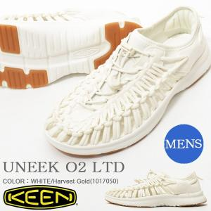 限定カラー アウトドア スニーカー KEEN キーン 靴 メンズ UNEEK O2 LTD ユニーク スリッポン WHITE 白 ホワイト リミテッド 2018春夏新作 サンダル シューズ|elephant