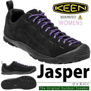アウトドア シューズ KEEN キーン 靴 レディース JASPERP ジャスパー BLACK ブラック 黒 クライミング スニーカー 靴 シューズ ハイブリッド|elephant