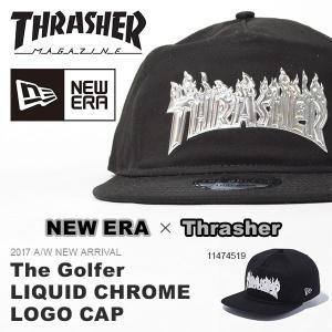 NEW ERA ニューエラ The Golfer Thrasher スラッシャー リキッドクローム キャップ メンズ レディース 帽子 30%off|elephant
