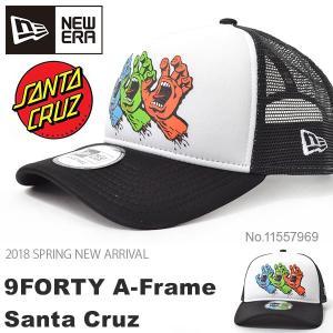 キャップ NEW ERA ニューエラ 9FORTY A-Frame トラッカー Santa Cruz サンタクルーズ ベースボール キャップ メンズ レディース 帽子 2018春新作 10%off|elephant