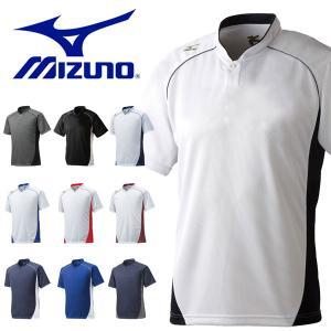 半袖 Tシャツ ミズノ MIZUNO メンズ レディース ハーフボタン 小衿タイプ 野球 ソフトボール トレーニング グローバルエリート スポーツウェア 得割20|elephant