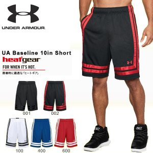 得割40 ハーフパンツ アンダーアーマー UNDER ARMOUR UA Baseline 10in Short メンズ ショートパンツ 短パン バスケットボール ウェア バスパン 新作