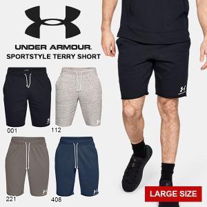 得割30 大きいサイズ ハーフパンツ アンダーアーマー UNDER ARMOUR UA メンズ スウェット ショートパンツ トレーニング 1329288 2019春夏新作|elephant