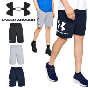 得割30 ハーフパンツ アンダーアーマー UNDER ARMOUR UA メンズ スウェット ショーツ ショートパンツ 短パン ビッグロゴ トレーニング ウェア 2019春夏新作|elephant