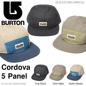 キャップ バートン BURTON Cordova 5 Panel メンズ CAP 帽子 スケート スノーボード スノボ スノー アウトドア 2018春夏新作 20%off|elephant