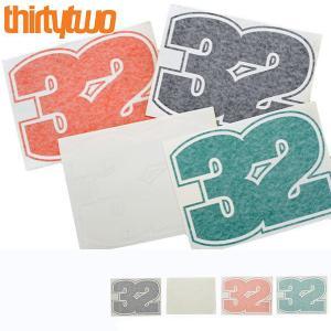 ゆうパケット対応可能! ステッカー ThirtyTwo 32 サーティーツー STICKER LOGO 27.5×20.5cm カッティングシート ロゴ スノーボード スノボ サーティー トゥー|elephant