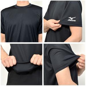 吸汗速乾機能搭載 半袖Tシャツ ミズノ MIZUNO メンズ レディース ワンポイント ランニング ジョギング トレーニング ウェア 21%off プラシャツ スポーツ|elephant|04