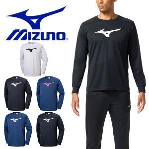 長袖 Tシャツ ミズノ MIZUNO メンズ レディース ビッグロゴ トレーニング ランニング ジョギング ジム スポーツ ウェア 得割20|elephant