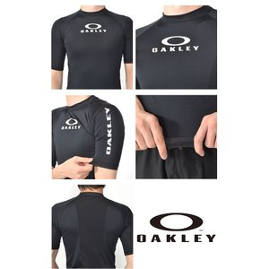 半袖 ラッシュガード OAKLEY オークリー メンズ UVカット 水着 スイムウェア サーフィン ボディボード プール 海水浴 ビーチ UPF50+ 2019春夏新作 得割20|elephant|05