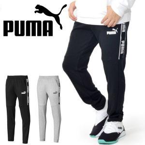 ロングパンツ プーマ PUMA メンズ AMPLIFIED スウェットパンツ スエット ロング パンツ ラインテープロゴ トレーニング ウェア 2019秋新作 得割10 580954|elephant