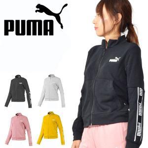 スウェットトラックジャケット プーマ PUMA レディース AMPLIFIED スウェットジャケット ラインテープロゴ ジャージ 2019秋新作 得割10 581067|elephant