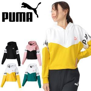 【最大23%還元】 ショート丈 パーカー プーマ PUMA レディース XTG フーディ プルオーバ...
