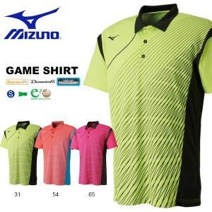 半袖 Tシャツ ミズノ MIZUNO メンズ レディース ゲームシャツ テニス バドミントン ソフトテニス ウェア ゲームウエア 2018春夏新作 得割20 送料無料|elephant
