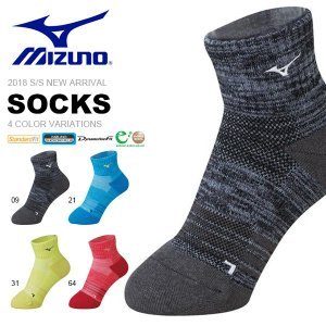 スポーツソックス ミズノ MIZUNO メンズ レディース ソックス ショート丈 靴下 ショートソックス テニス バドミントン 2018春夏新作 得割20