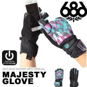 手袋 686 SIX EIGHT SIX シックスエイトシックス MAJESTY infiLOFT GLOVE レディース グローブ スノボ スノーボード L7WGLV12 得割30|elephant