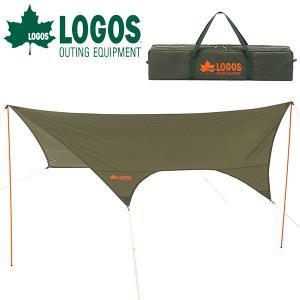 ロゴス LOGOS neos LCドームFitヘキサタープ 4443-AI タープテント 4.4m×4.3m 大型 簡単 収納袋 アウトドア レジャー キャンプ用品 71805053|elephant