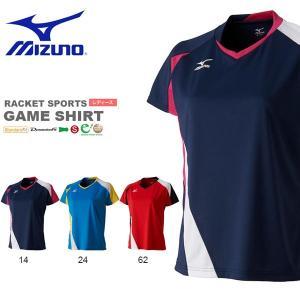 半袖 Tシャツ ミズノ MIZUNO レディース ゲームシャツ テニス バドミントン ソフトテニス ウェア ゲームウエア 得割20|elephant