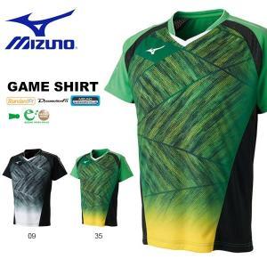 半袖 Tシャツ ミズノ MIZUNO メンズ レディース ゲームシャツ JR北海道着用モデル バドミントン ウェア ゲームウエア 2018春夏新作 得割20 送料無料|elephant