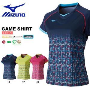 半袖 Tシャツ ミズノ MIZUNO レディース ゲームシャツ テニス バドミントン ソフトテニス ウェア ゲームウエア 2018春夏新作 得割20|elephant