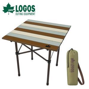 ロゴス LOGOS Life ロールサイドテーブル ヴィンテージ 折りたたみ 軽量 アルミ天板 アウ...