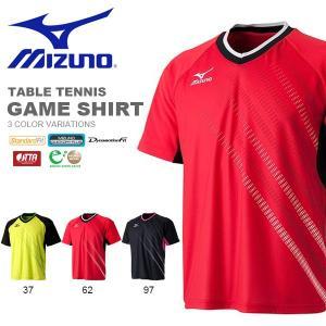 半袖 Tシャツ ミズノ MIZUNO メンズ レディース ゲームシャツ 卓球 ウェア ゲームウエア 得割20 送料無料|elephant