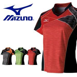 半袖 Tシャツ ミズノ MIZUNO レディース ゲームシャツ 卓球 ウェア ゲームウエア 得割20 送料無料|elephant