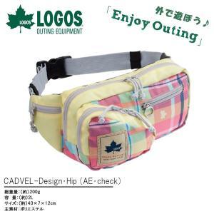 ロゴス LOGOS 2WAY ヒップバッグ レディース CADVEL-Design・Hip AE・check チェック柄 2L ボディバッグ|elephant