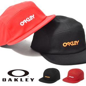 キャップ OAKLEY オークリー メンズ OAKLEY 5 PANEL COTTON HAT ロゴ 帽子 CAP 平つば 2018秋冬新作|elephant