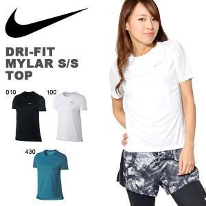紫外線防止 UVカット 半袖 Tシャツ ナイキ NIKE レディース DRI-FIT マイラー S/S トップ ランニングシャツ スポーツウェア 2018夏新色 20%OFF