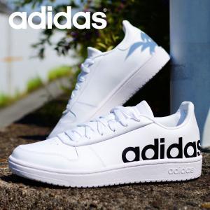 アディダス メンズ スニーカー レザー 本革 adidas ADIHOOPS 2.0 LTS M ローカット カジュアル シュ..
