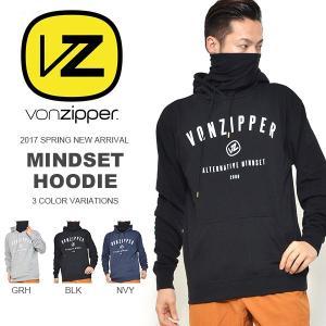 長袖パーカー VONZIPPER ボンジッパー メンズ MINDSET HOODIE ロゴ 撥水 プルオーバー 35%off|elephant