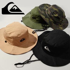 サファリハット QUIKSILVER クイックシルバー メンズ BUSHMASTER アウトドアハット あご紐付 帽子 2018春夏新作 30%off|elephant