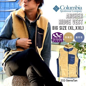 大きいサイズ フリース アウトドアベスト Columbia コロンビア メンズ Archer Ridge Vest もこもこ アウター PM1424 2018秋冬新作 得割10|elephant