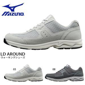 ウォーキングシューズ ミズノ MIZUNO メンズ レディース LD AROUND 幅広 3E ファスナー付き スニーカー 靴 シューズ 得割20 送料無料|elephant