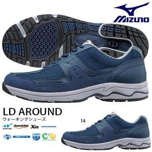 ウォーキングシューズ ミズノ MIZUNO メンズ LD AROUND 幅広 3E ファスナー付 スニーカー 靴 カジュアル シューズ 得割20 送料無料|elephant