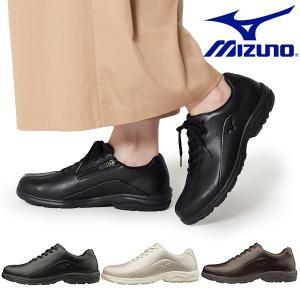 ウォーキングシューズ ミズノ レディース MIZUNO LD40V ファスナー付 スニーカー 靴 ビジネス カジュアル ウォーキング シューズ B1GD1917 得割26|エレファントSPORTS PayPayモール店