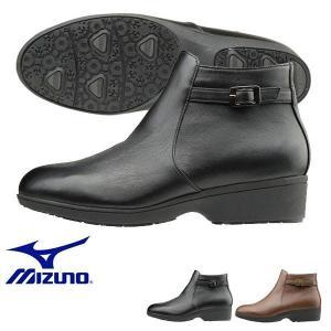 雨や雪の日も快適に履ける防水仕様 ミズノ MIZUNO レディース セレクト655 ショートブーツ 幅広 3E ファスナー付 靴 シューズ 得割20 送料無料|elephant