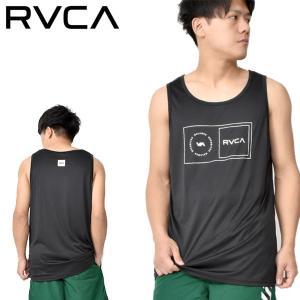 RVCA ルーカ タンクトップ ラッシュガード メンズ 水着 ハイブリット 水陸両用 ブラック 黒 BA041855 BA041-855 30%off エレファントSPORTS PayPayモール店
