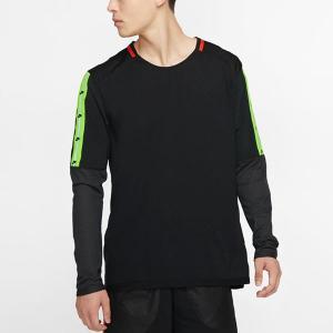 長袖 Tシャツ ナイキ NIKE メンズ ワイルドラン トップ L/S ブロックロゴ スポーツパック スポーツウェア ブラック 黒 BV5591 2019冬新作 送料無料 elephant