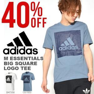 現品のみ 40%OFF 半袖 Tシャツ アディダス adidas M ESSENTIALS ビッグスクウェアロゴ 半袖Tシャツ メンズ ランニング ジョギング トレーニング ウェア elephant
