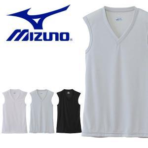 ミズノ(MIZUNO) ドライベクターエブリ Vネックノースリーブシャツ になります。  メンズ・男...