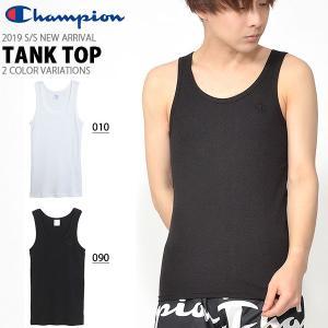 タンクトップ チャンピオン Champion メンズ TANK TOP クルーネック ワンポイント C3-H364 10%OFF elephant