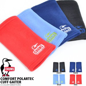 手袋 CHUMS チャムス メンズ レディース Polartec Cuff Gaiter ハンドゲイター グローブ 手袋 防寒 アウトドア 通勤 通学 30%off|elephant