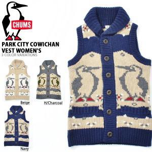 カウチンベスト CHUMS チャムス レディース Park City Cowichan Vest Women's パークシティカウチンベスト ニット 2018秋冬新作|elephant