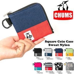 ゆうパケット対応可能! コインケース CHUMS チャムス Square Coin Case Sweat Nylon スクエア コインケース スウェット 小銭入れ ポーチ 財布 2019春夏新作|elephant