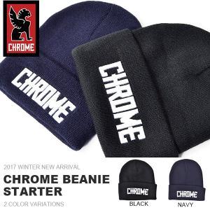 現品限り ニットキャップ CHROME クローム BEANIE CAP 帽子 STARTER スターター ビーニー ニット帽 30%off|elephant