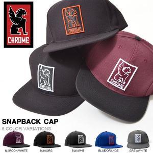 キャップ CHROME クローム SNAPBACK CAP 帽子 CAP ストリート ピスト バイク スケボー メッセンジャー|elephant
