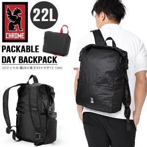 バックパック クローム CHROME PACKABLE BACKPACK パッカブル 22L ブラック 黒 リュック デイパック BG301BK 2020春夏新作|elephant